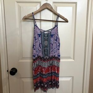 Angie Colorful Print Romper